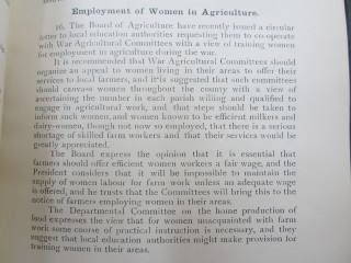 Report on Women in Agriculture (extract) | HALS Ref HCC 2/72