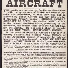 Aircraft Identification Poster, Dec1914 | HALS Ref Acc 3890
