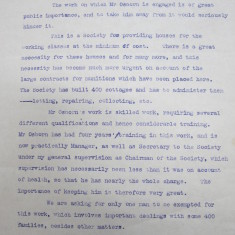 Letter of support for Frederick J Osborn's Appeal, 10 Oct, 1917 | HALS Ref DE/FJO/A19/6/5