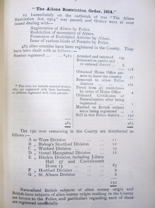 Police Joint Standing Committee  Report, Jan 1915 | HALS Ref HCC2/68