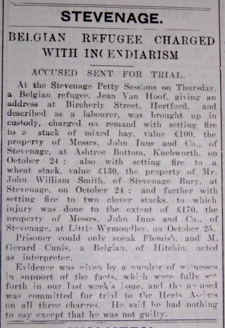 Belgian Refugees | Hertfordshire Mercury, 06 Nov 1915