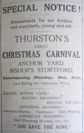 Christmas Carnival Dec 1914 | Herts and Essex Observer