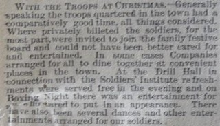 Troops at Christmas 1914 as reported in the newspaper in Jan 1915 | Herts and Essex Observer