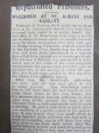 Local newspaper account of Mrs Dearbergh's party  | HALS Ref DE/X 1030