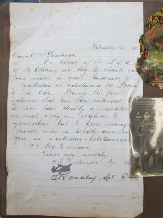 Thank you letter to Mrs Dearbergh | HALS Ref DE/X 1030