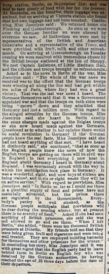 Edith Joscelyne (cont) | Sept 1914 (cont)