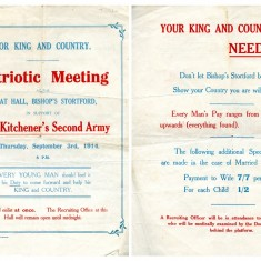 Recruitment Rally Leaflet   Bishops Stortford Museum Collection T0020