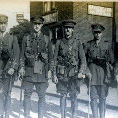 Billeted soldiers in Bishops Stortford, c1915 | Digital copy in Bishops Stortford Museum collection. Original in a private collection.