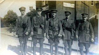 Billeted soldiers in Bishops Stortford, c1915   Digital copy in Bishops Stortford Museum collection. Original in a private collection.