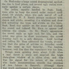 Food Riot in Hitchin | Hertfordshire Mercury, 08 Aug 1914