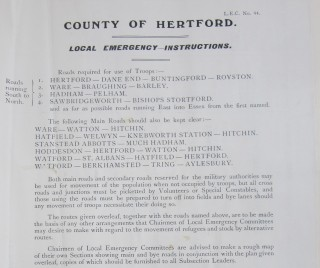 County of Hertford Local Emergency Committee Instructions | HALS Ref HCC 2/68