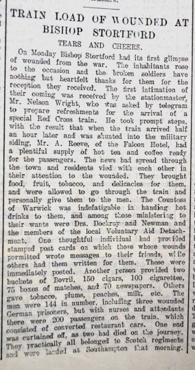 Nursing on the Home Front | Hertfordshire Mercury, 05 Sept 1914