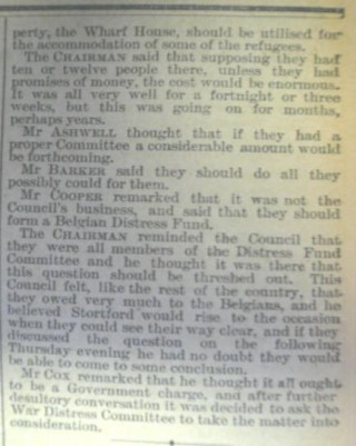 Belgian Refugees Committee proposal (Cont) | Herts and Essex Observer Nov 1914
