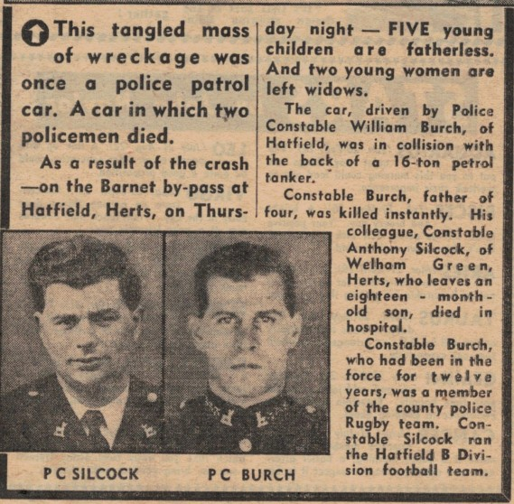 Burch, William and Silcock, Anthony, Constables : fatal road accident