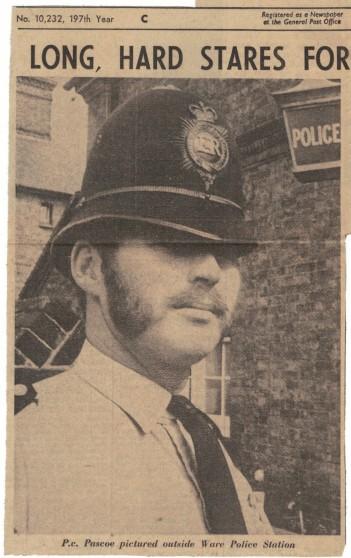 P.c. Mick Pascoe, 1969