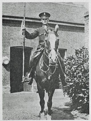The last Police Horse in Hertfordshire. Constable Thomas Oliver on Belly Ally at Hoddesdon in 1928