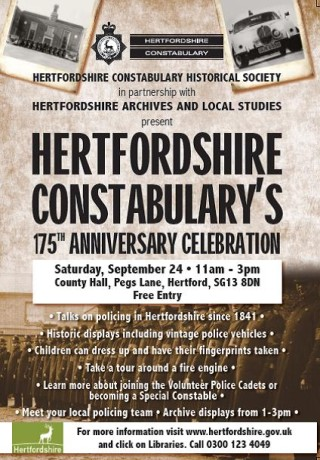 Celebrating 175 Years of Hertfordshire Constabulary