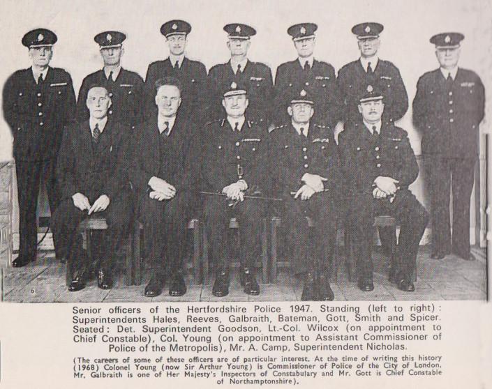 Senior Officers of Hertfordshire Police - 1947