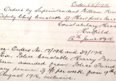 Boswell, Harry, 256 and 326, Police Constable.