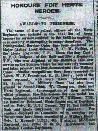 Hertfordshire Mercury 2nd July 1920 | HALS