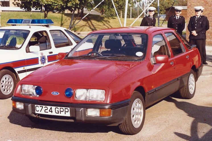 1985 Ford Sierra 2.0iS seen at an Open Day at HQ