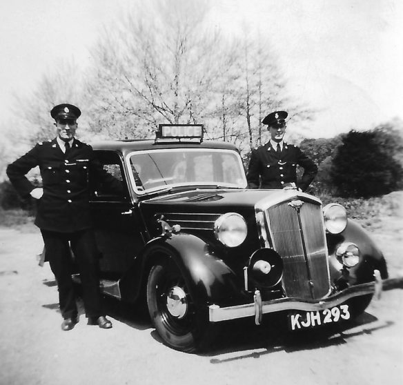 1948 Wolseley KJH 293 with PC Ron Petts