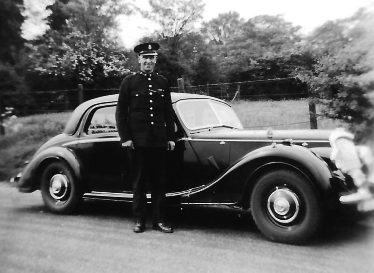 Riley RM patrol car with PC Ron Petts