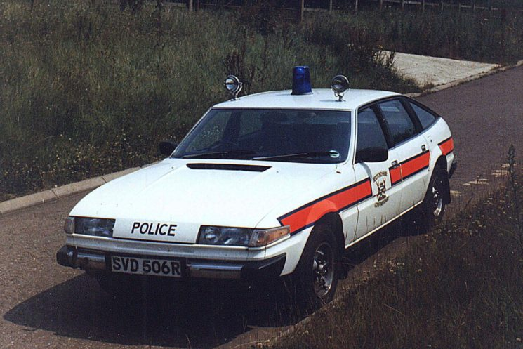 1977 Rover SD1, SVD 506R attached to the Northern Traffic Base, Hitchin.