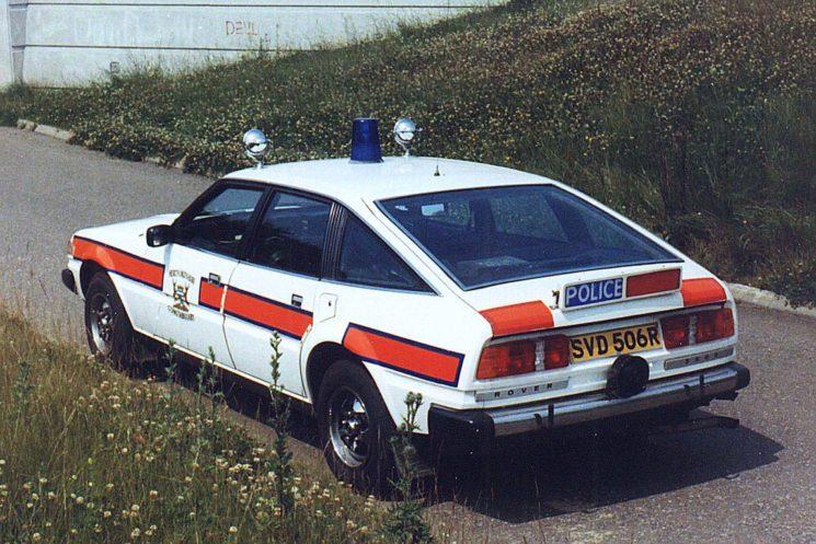 1977 Rover SD1, rear view.