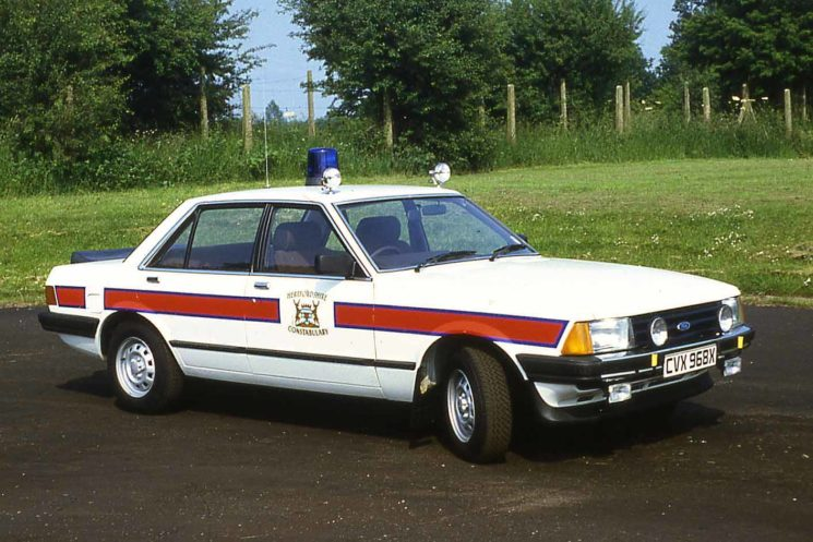 1982 Ford Granada, CVX 968X, brand new and polished.