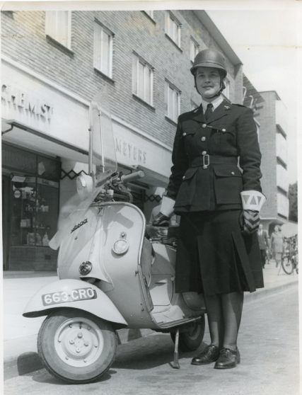 The Vespa Scooter - 663CRO | Herts Police Historical Society
