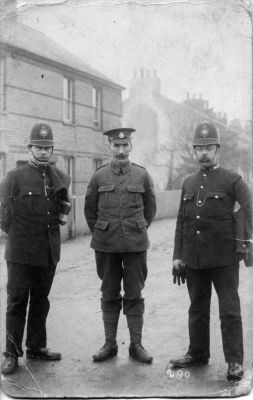 Left To Right PC 178C David Augustus Lilley, his brother Woolaston John Lilley and PC  144C John Downing