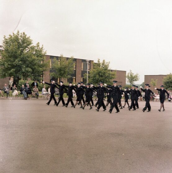 Cadets Marching on Pass out Parade