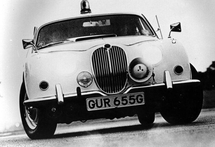 Clear photo of the Jaguar.