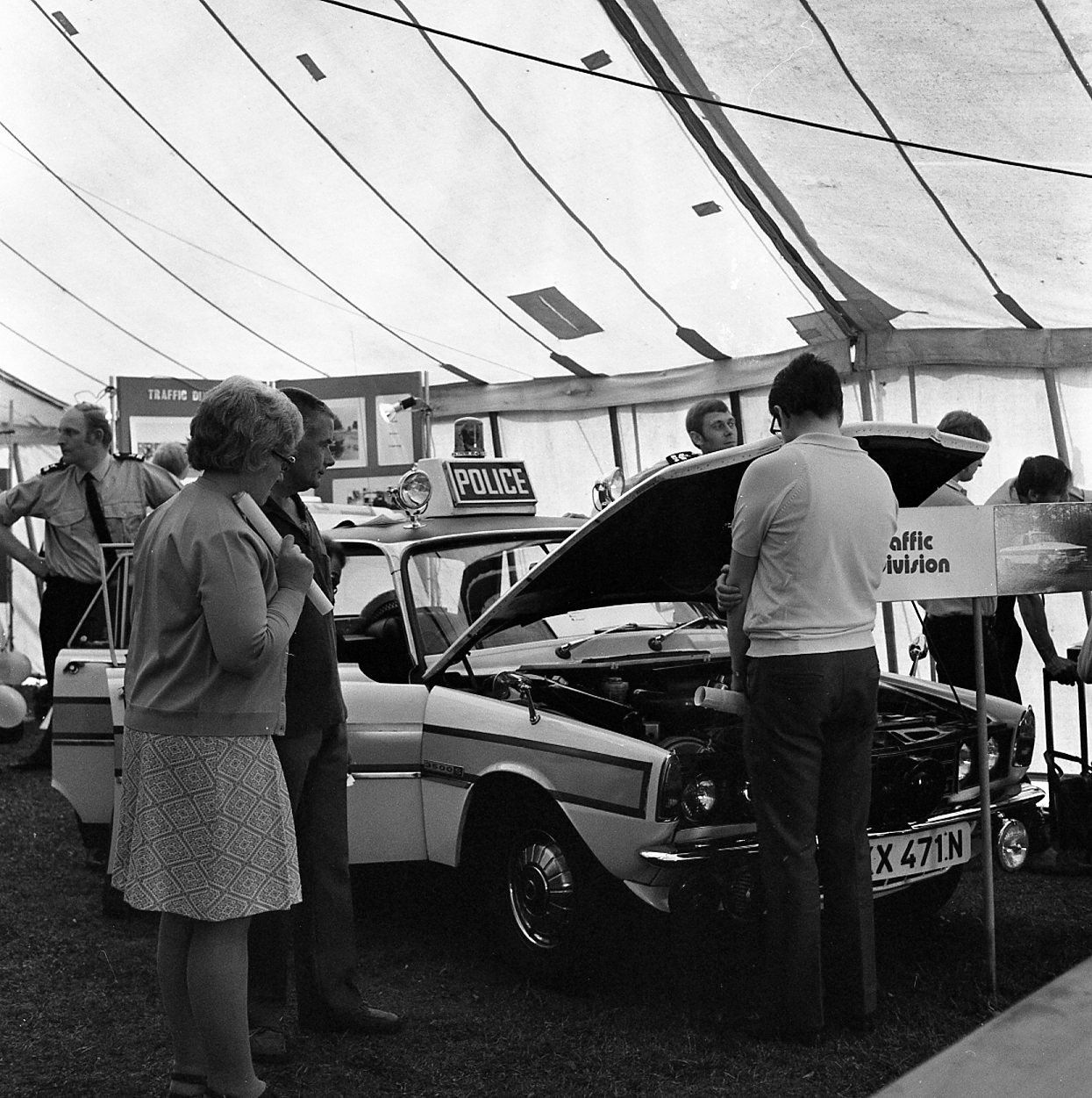 A Traffic Patrol Car on display at the Hertfordshire Show.