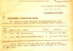 Hunt, Joseph, 134, Police Constable, Sergeant.