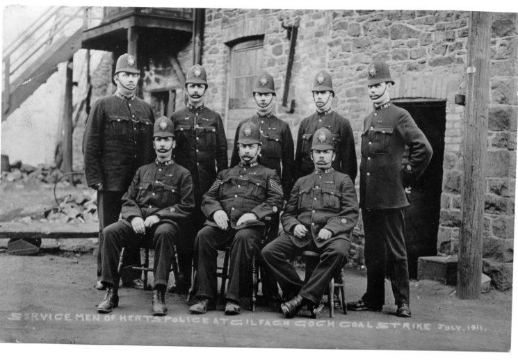 Hertfordshire officers sent to Welsh Coal Strike 1911
