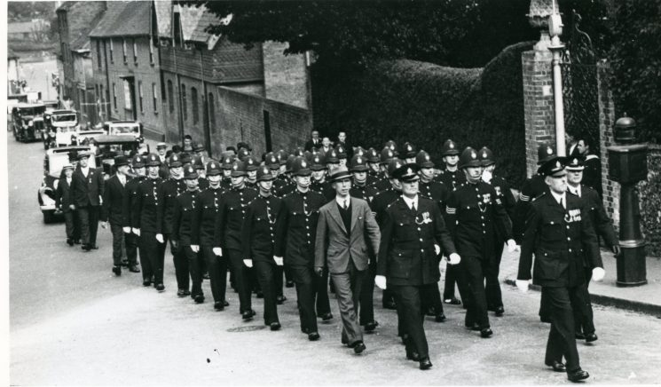 St Albans City Police on parade July 1936