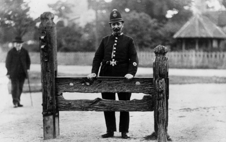 Policeman and Stocks Aldbury, Tring - circa 1900