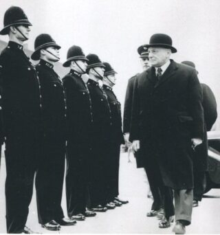 Honour Guard at the opening of Oxhey Police Station 1953   Eric Afford