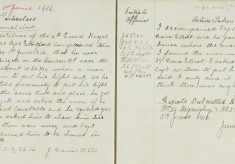 Complaint by Captain Wilson, light on bicycle