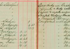 Duty collecting census of livestock papers