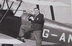Frederick Halsey and the Tiger Moth