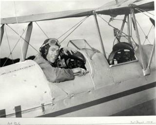 Frederick Halsey's 1st solo flight