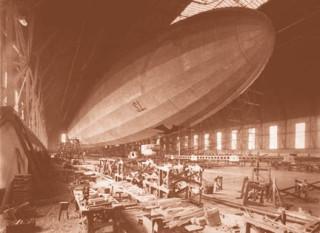 Schutte Lanz airship under construction