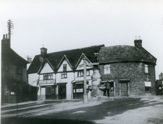 The Cock Inn - Court House and lock-up on the right
