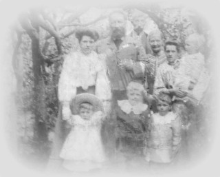 Bertie (bottom right) with his family