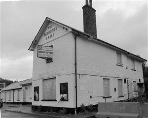 Tanner's Arms 100 years later - sadly boarded up for disposal
