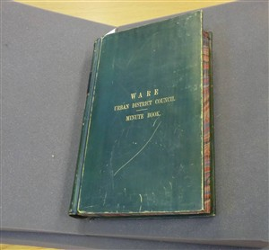 The cover of the Ware UDC Minute Book