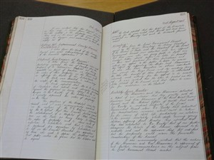 A page from the Ware UDC minute book